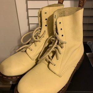 Pastel Yellow Dr Marten Boots